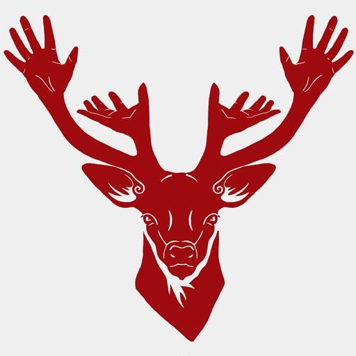 On voit le logo de Kornatur : une tête de cerf dont les bois représentent des mains de masseurs